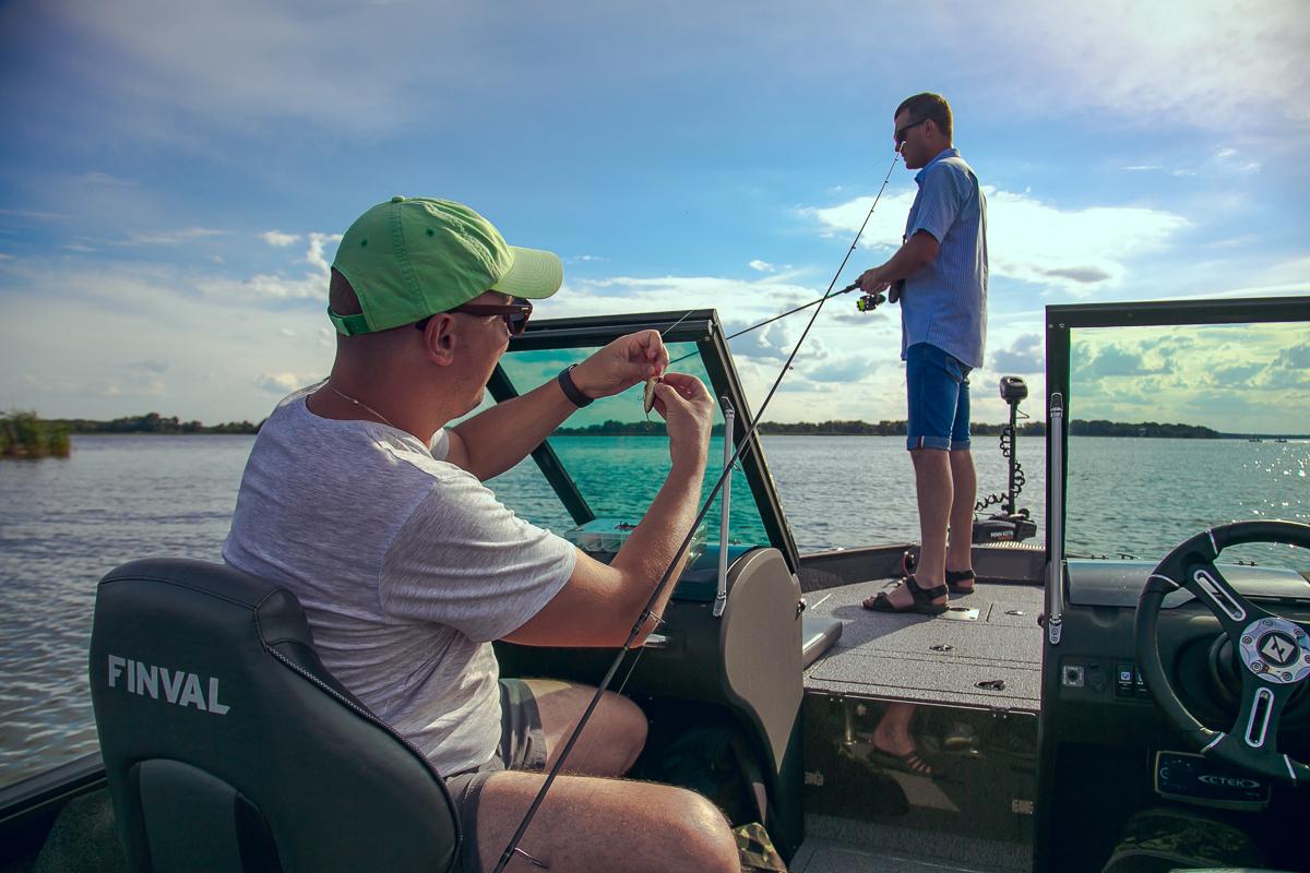 рыбалка на Днепре в Черкассах